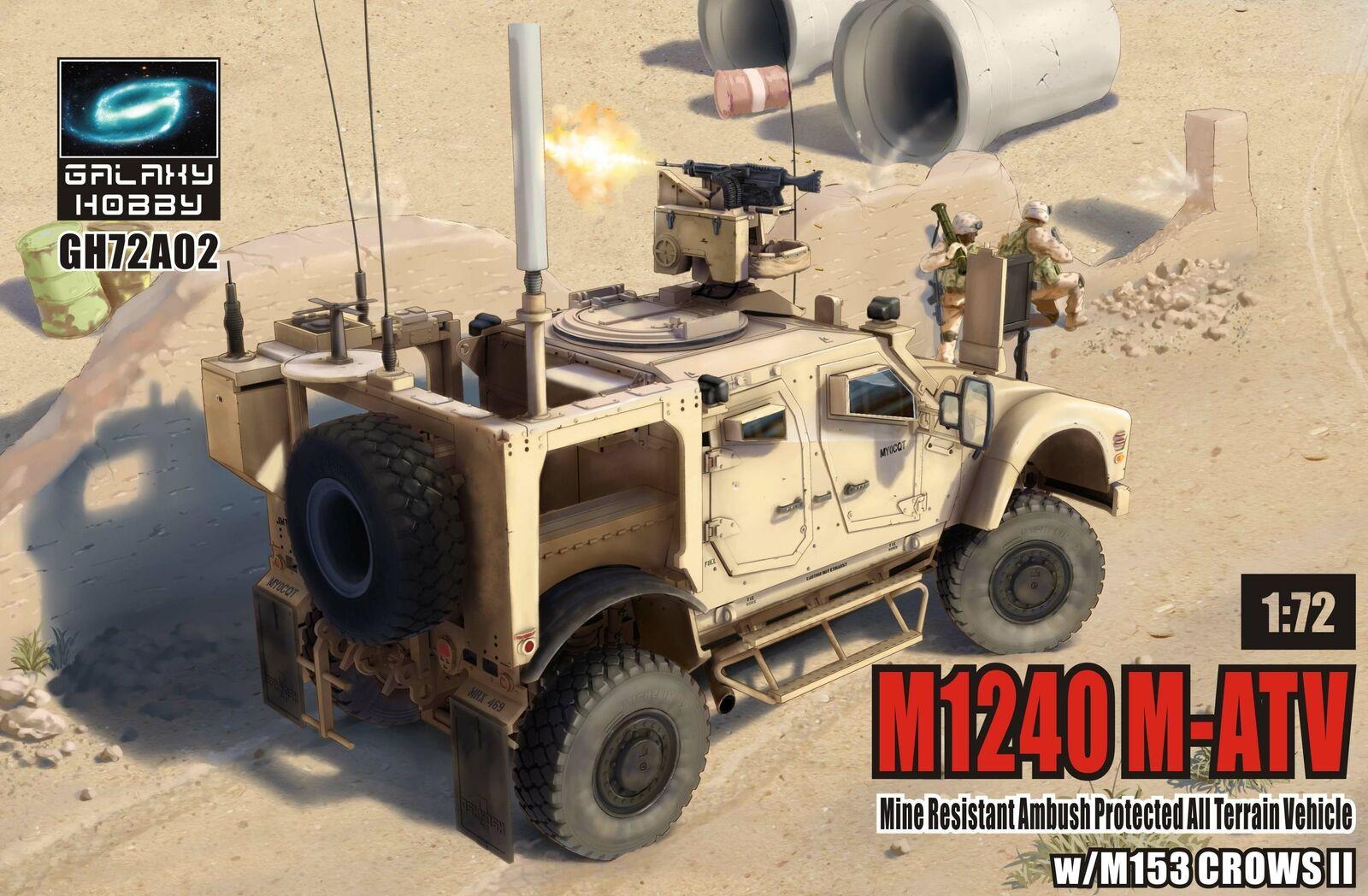 Galaxy Hobby 1/72 M1240 M-ATV MRAP All Terrain Vehicle w/ M153 CROWS II