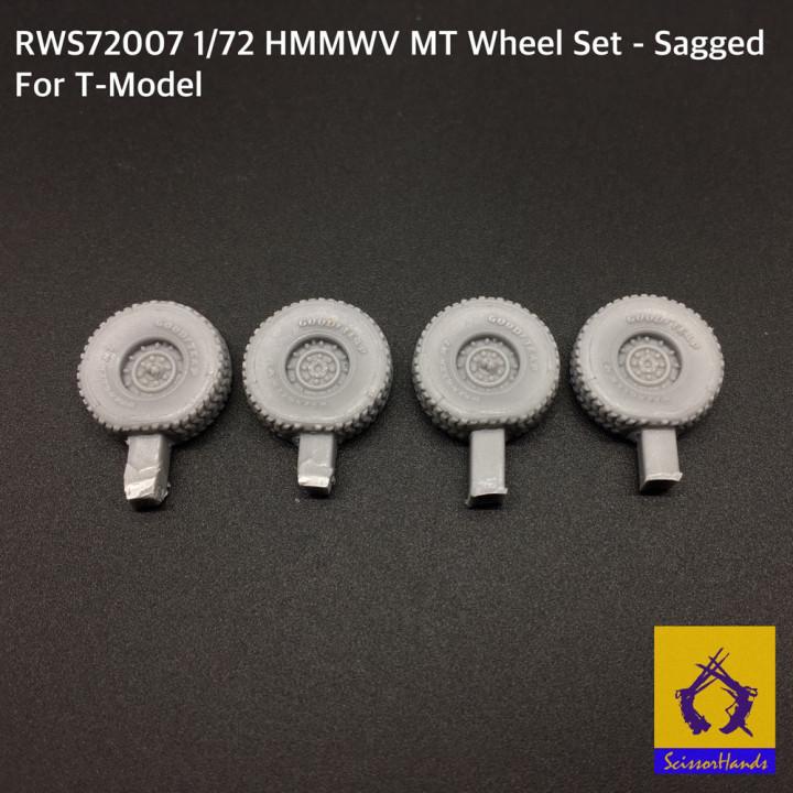 ScissorHandz HMMWV MT Sagged Wheel Set M1114 for T-Model (Tiger Models)