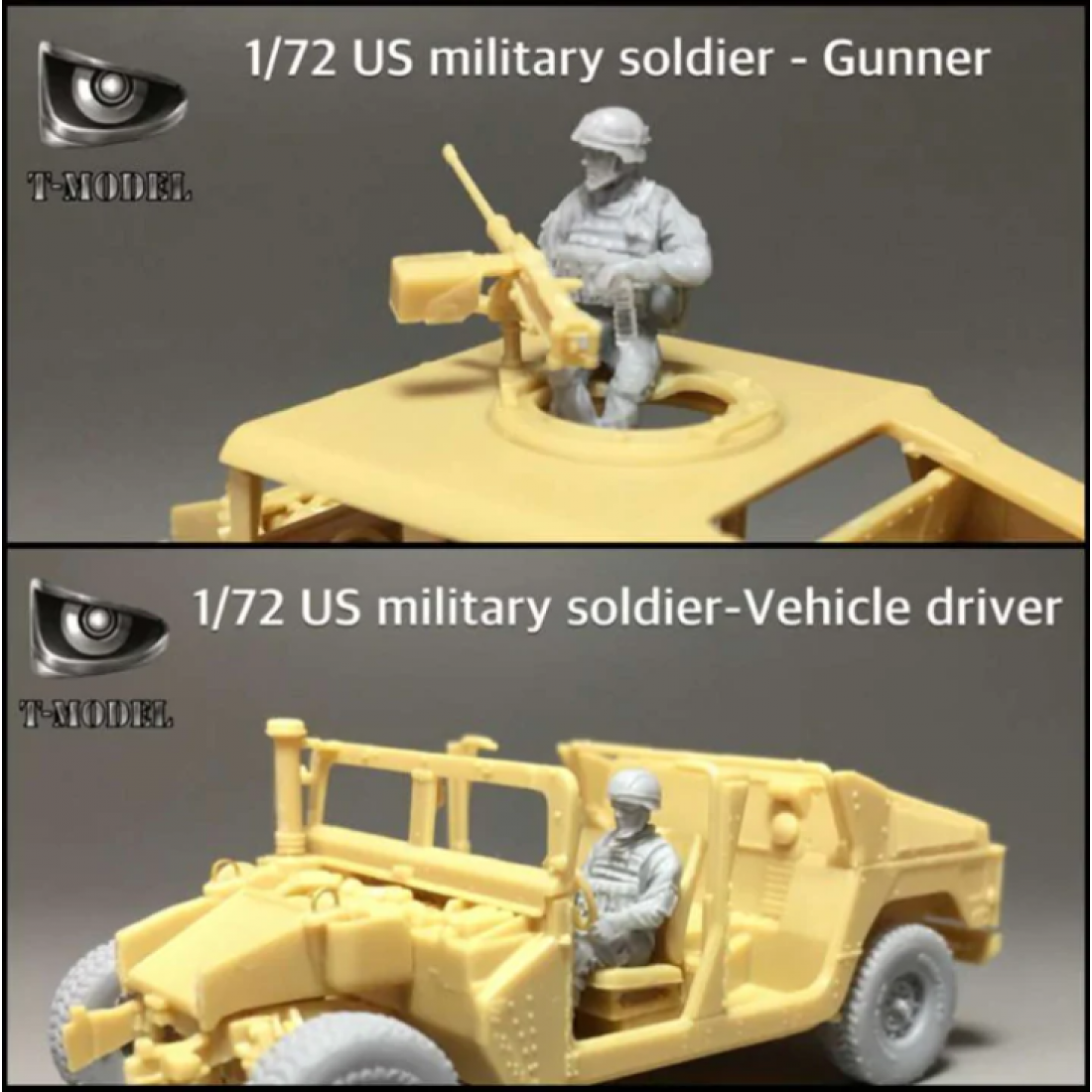 T-Model (Tiger Models) 1/72 US Military Soldiers, Gunner, Vehicle Driver Figures