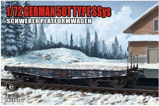 T-Model (Tiger Models) 1/72 German 50T Type Ssys Schwerer Plattformwagen