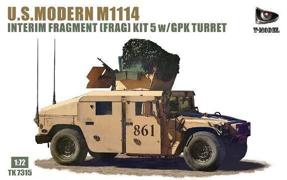 T-Model 1/72 U.S. Modern M1114 HMMWV Interim Fragment (Frag) Kit 5 with GPK Turret