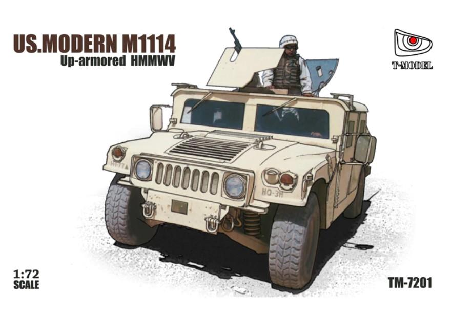 T-Model (Tiger Models) 1/72 US Modern M1114 Up Armored HMMWV