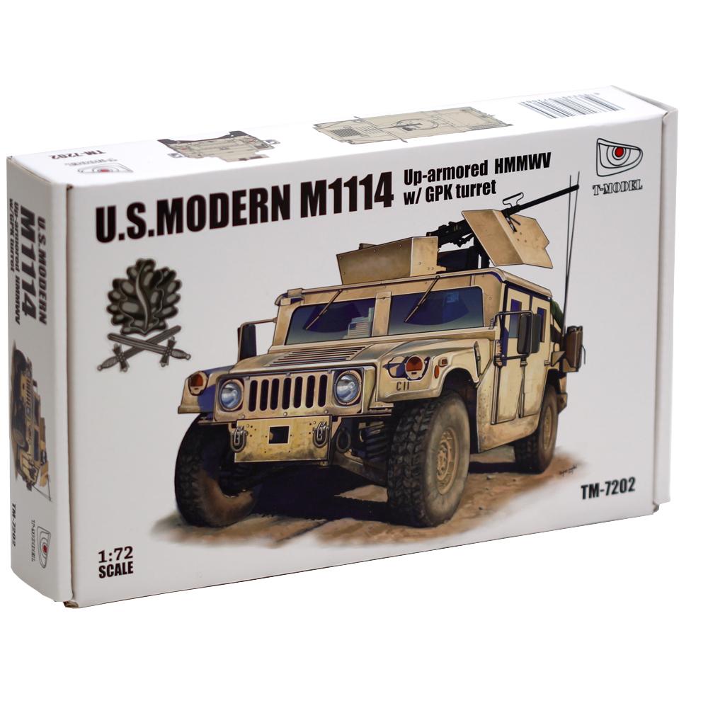 T-Model (Tiger Models) 1/72 US Modern M1114 Up Armored HMMWV w/ GPK Turret, Iron Oak Leaf Ver.