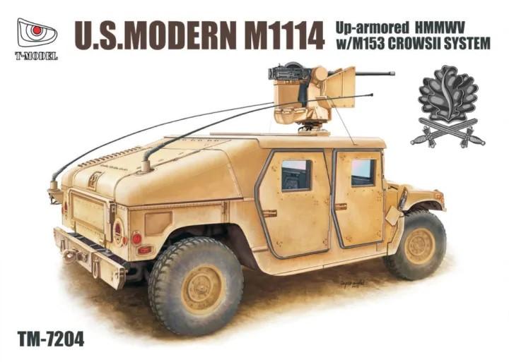 T-Model (Tiger Models) 1/72 Modern M1114 Up Armored HMMWV w/M153 Crows II System, Iron Oak Leaf Ver.
