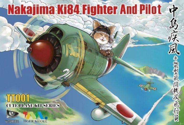 T-Model (Tiger Models) Cute Plane Kit Series - Nakajima Ki84 Fighter And Pilot