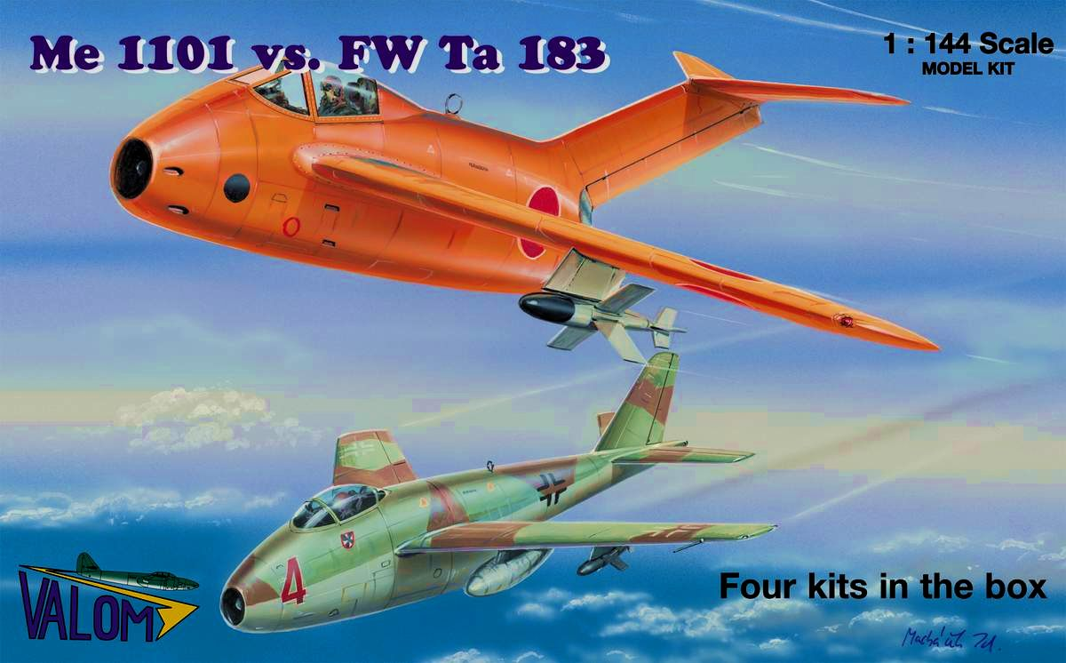 Valom Me 1101 vs FW Ta 183 (four kits)