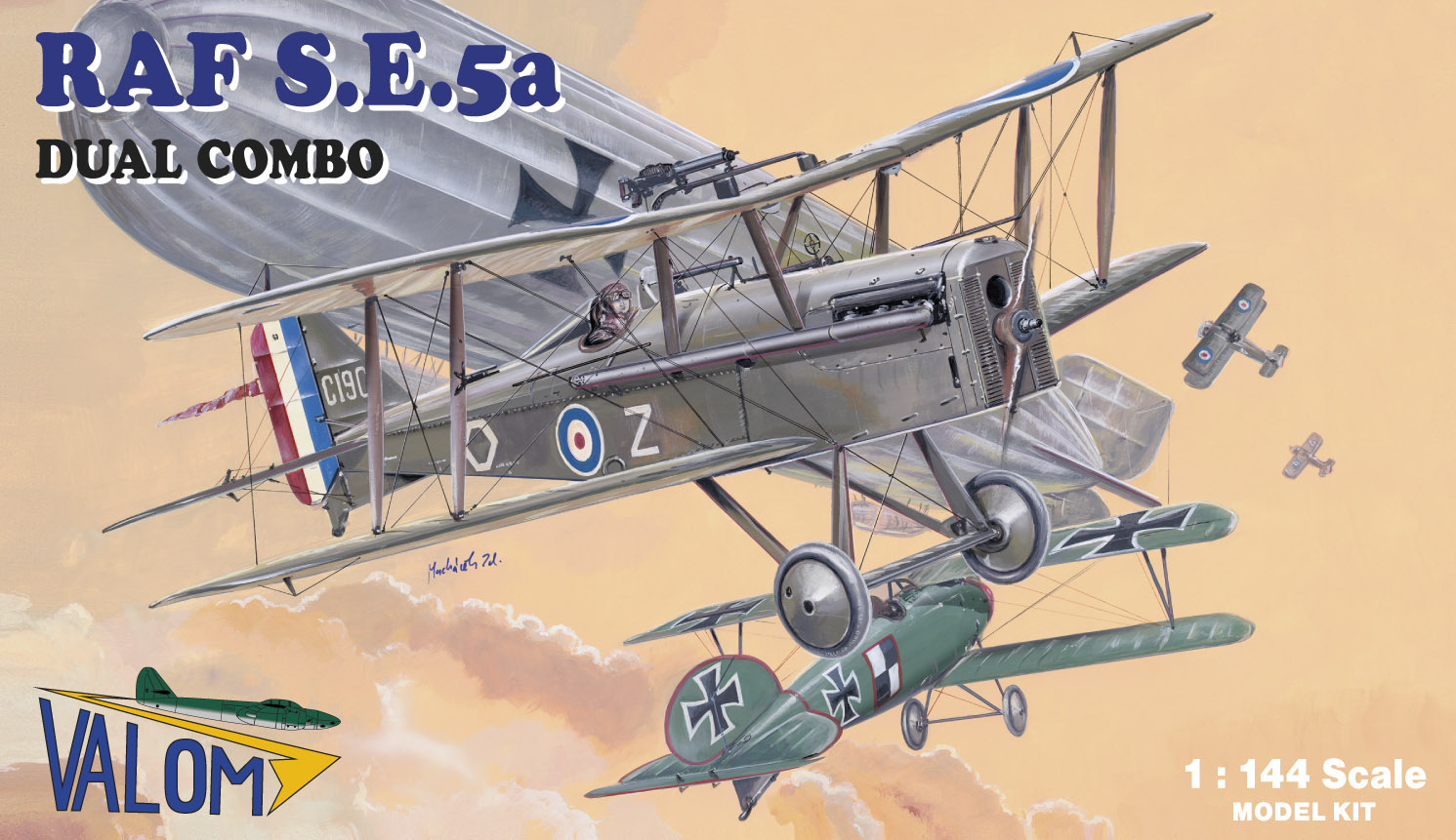 Valom 1/144 RAF SE5a (Dual Combo)