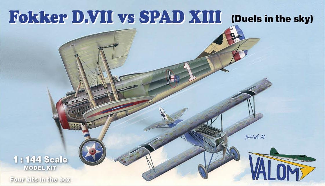 Valom 1/144 Fokker D.VII vs SPAD XIII (Duels in the Sky)