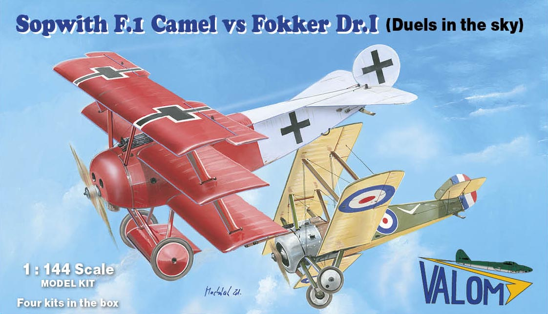 Valom Sopwith F.1 Camel vs Fokker Dr.I (Duels in the sky)