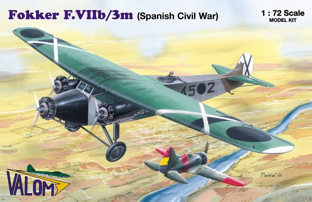 Valom 1/72 Fokker F.VIIb/3m (Spanish Civil War)