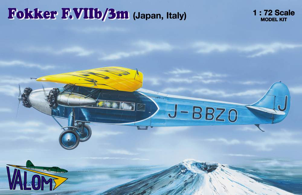Valom 1/72 Fokker F.VIIb/3m (Japan and Italy Markings)