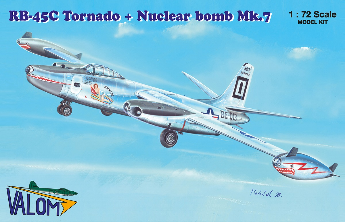 Valom N.A. RB-45C Tornado + Mark 7 nuclear bomb