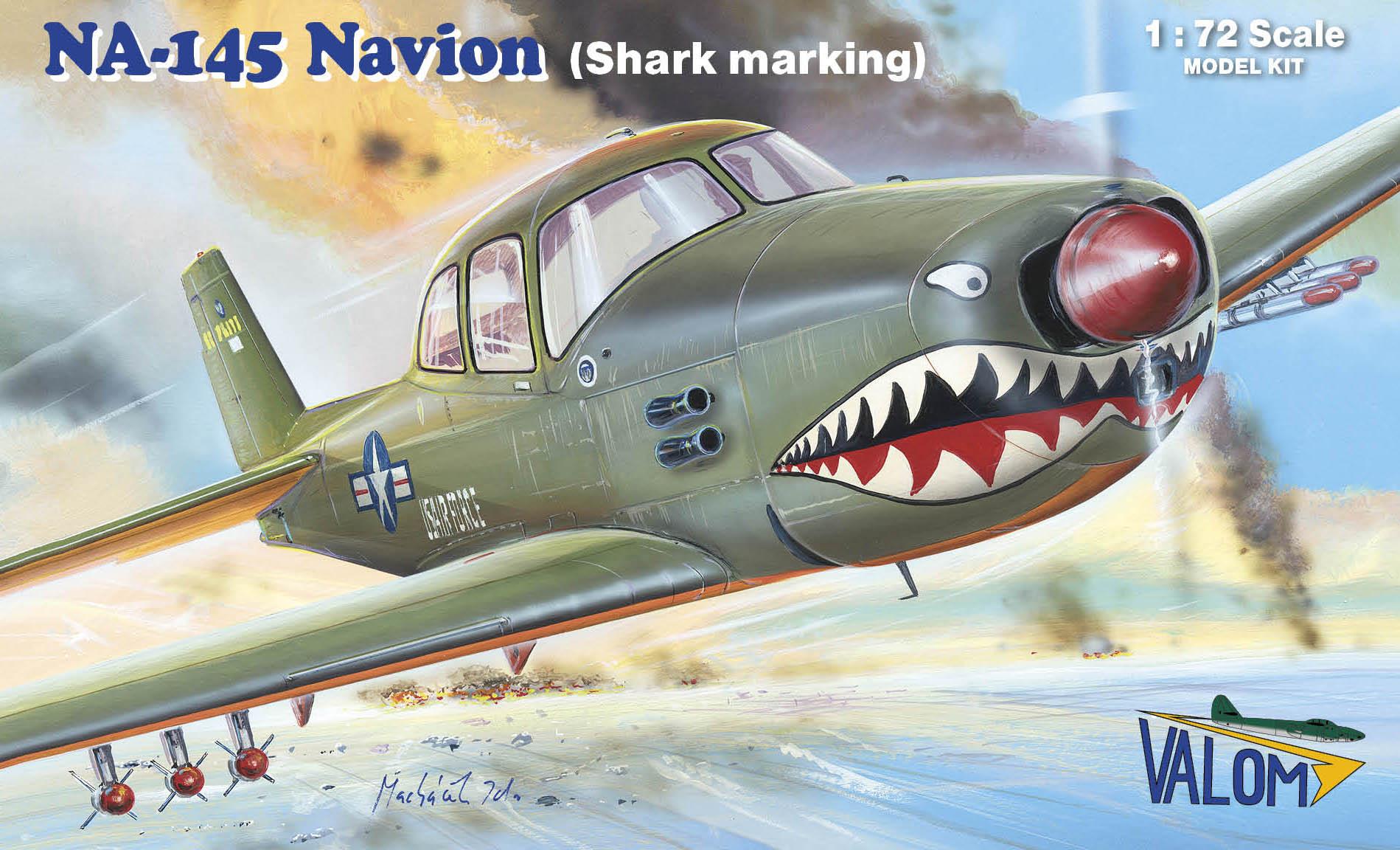 Valom  N.A. NA-145 Navion (shark marking)