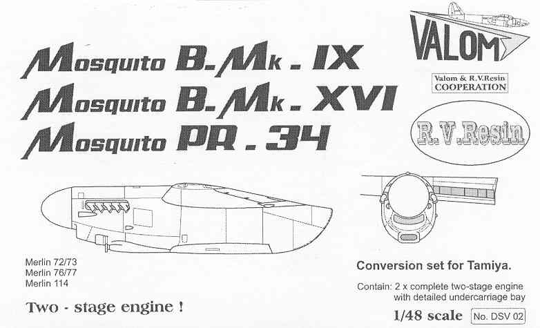 Valom Engine set for Tamiya Mosquito 1/48
