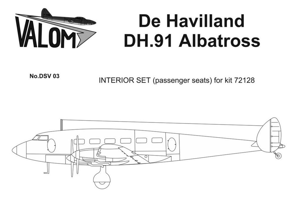 Valom Interior set for 72128 DH.91 Albatross