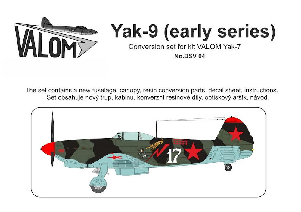 Valom Yak-9 (early series) Conversion set for kit VALOM Yak-7