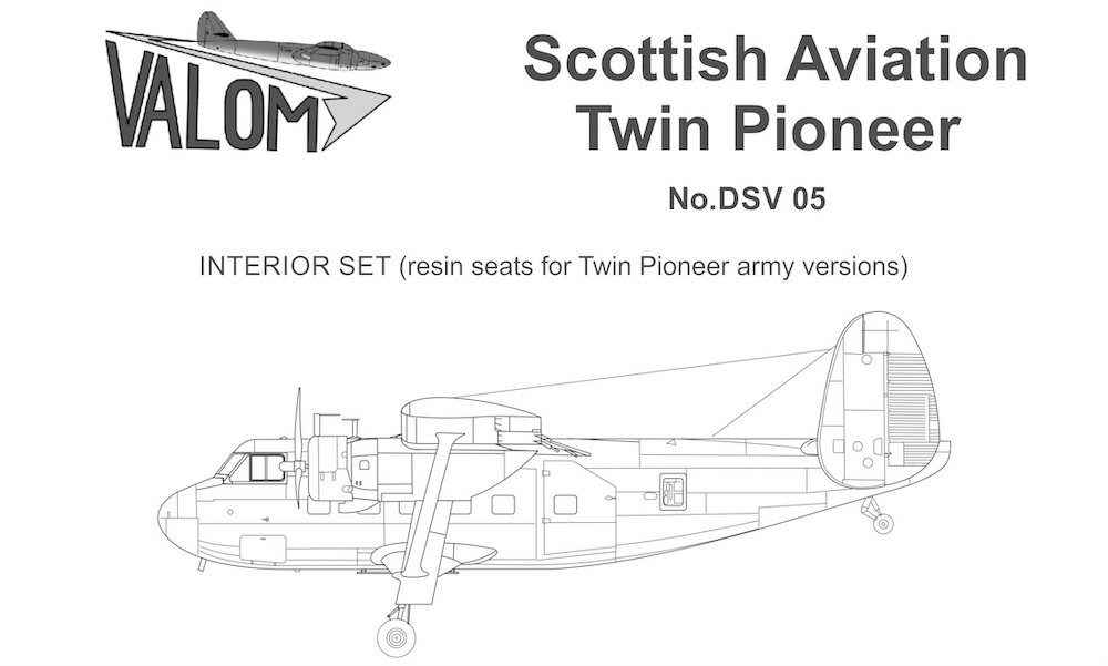 Valom Interior set for Twin Pioneer (army seats)