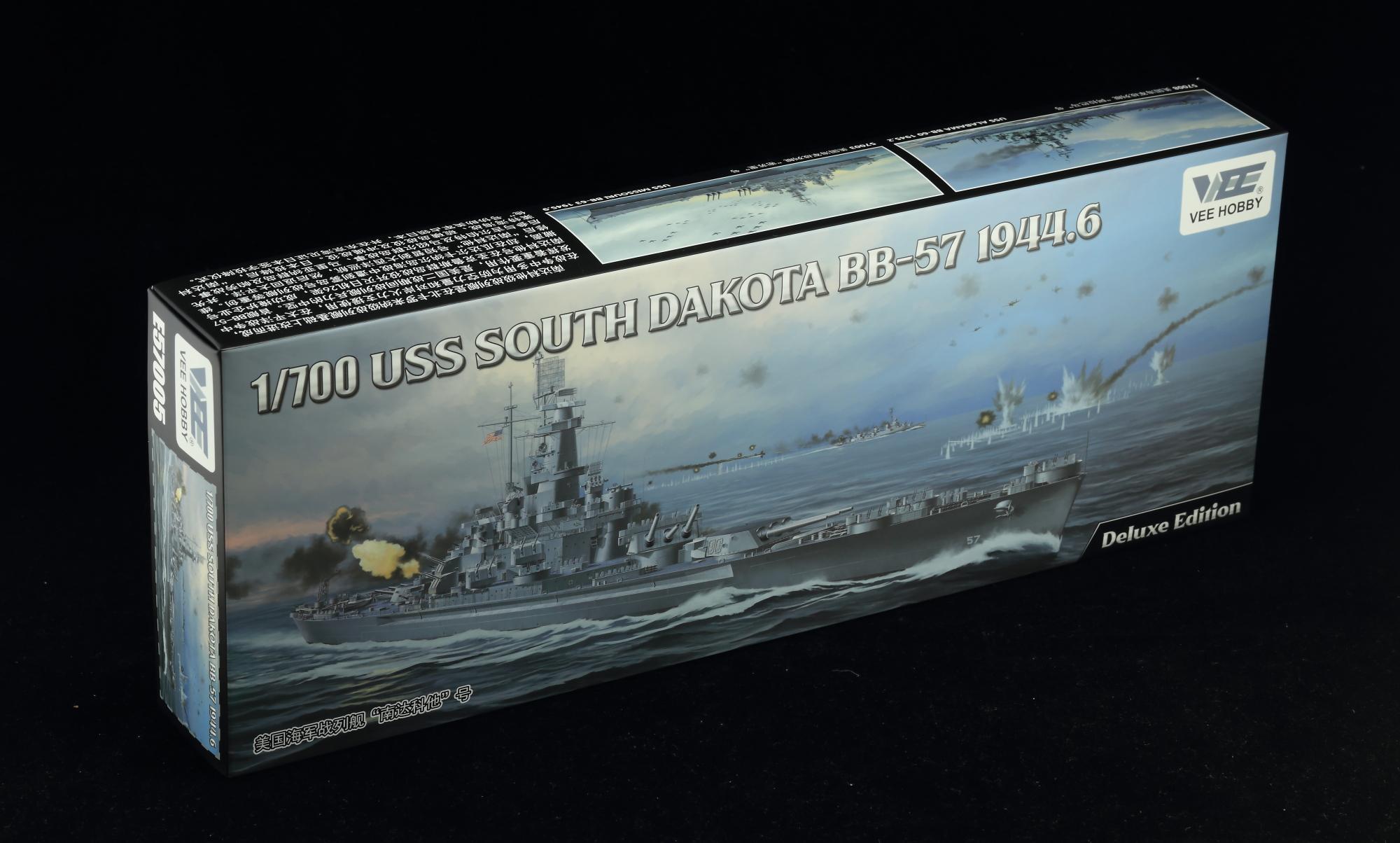 Vee Hobby 1/700 South Dakota Battleship BB-57 1944 (Professional Edition)