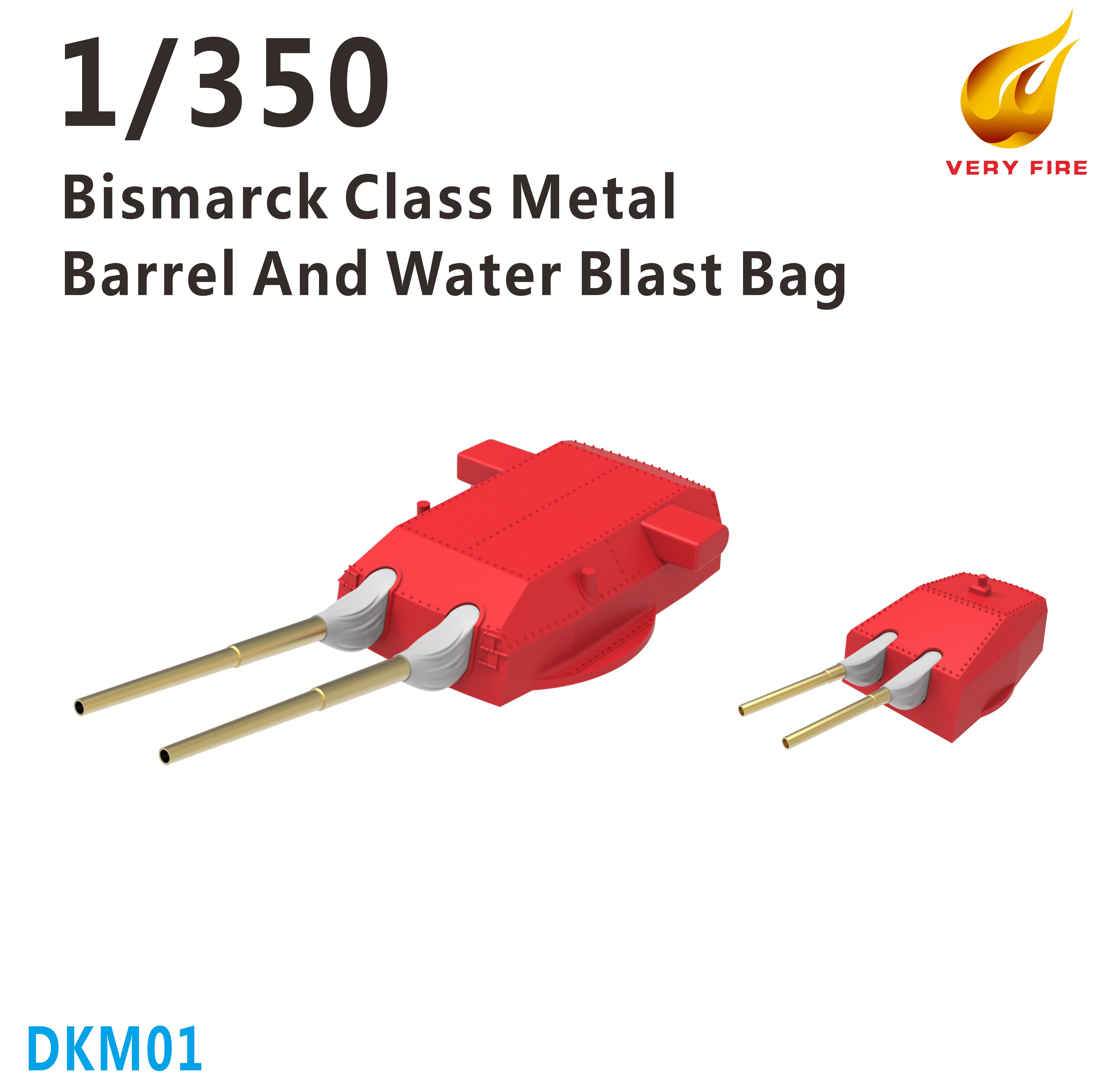 Very Fire 1/350 DKM Bismarck Class Metal Barrels And Waterblast