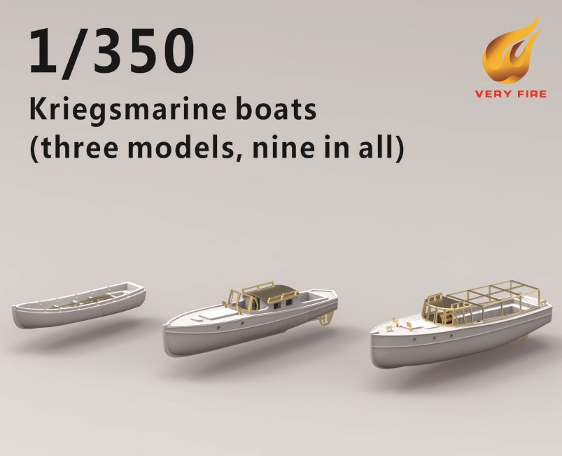 Very Fire 1/350 DKM Boats (3 Types, 9 Boats)
