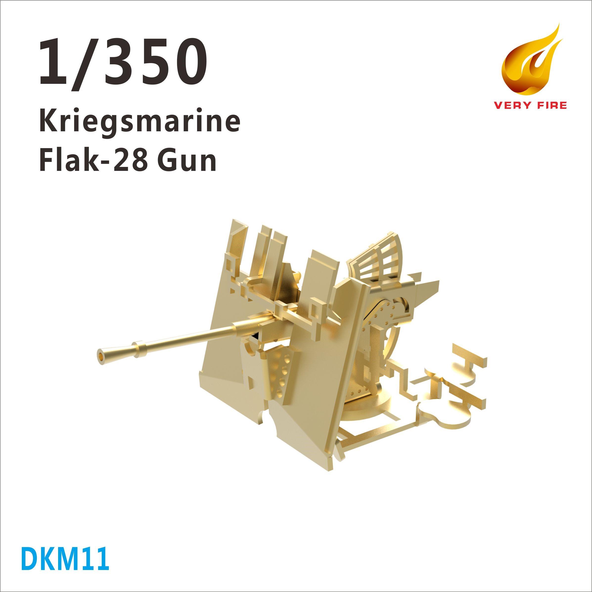 Very Fire 1/350 DKM Kriegsmarine Flak-28 AA Guns (8 Sets)