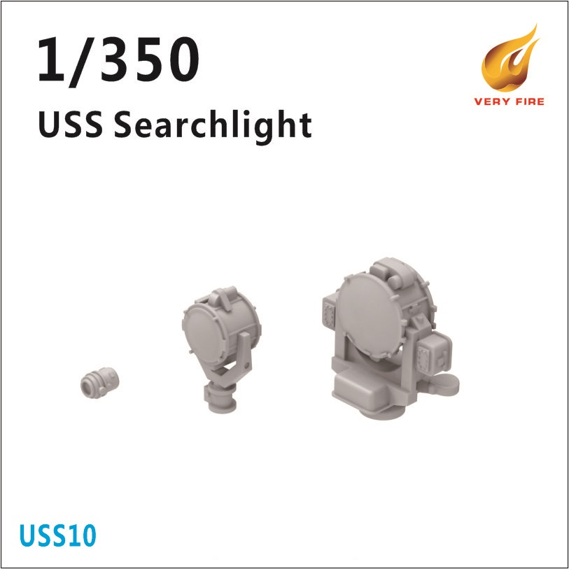 Very Fire 1/350 USS Searchlight (3 Types, 12 Sets)