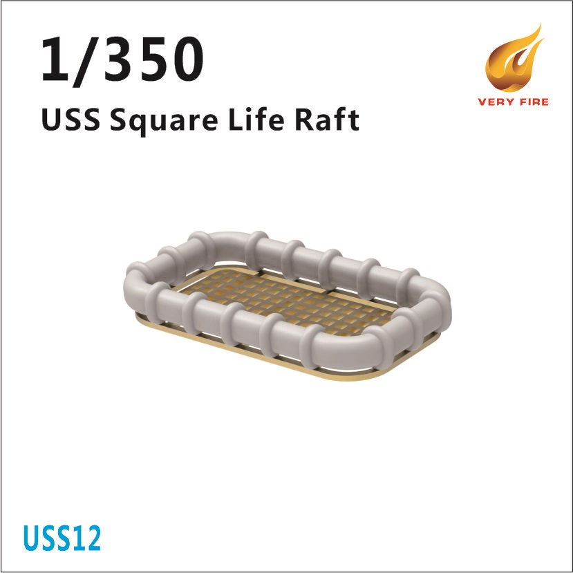 Very Fire 1/350 USS Life Square Rafts (30 Sets)