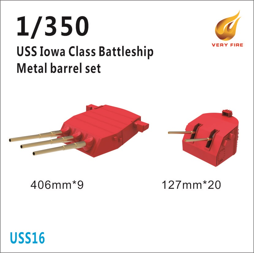 Very Fire 1/350 USS Iowa Class Metal Barrels And Waterblast