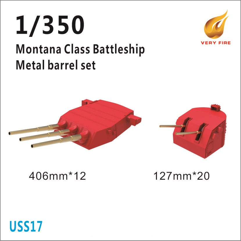 Very Fire 1/350 USS Montana Class Metal Barrels And Waterblast