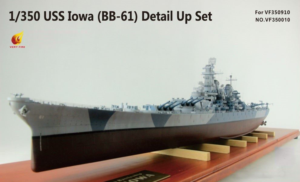 Very Fire 1/350 USS Iowa BB-61 Detail Up Set (For Very Fire)