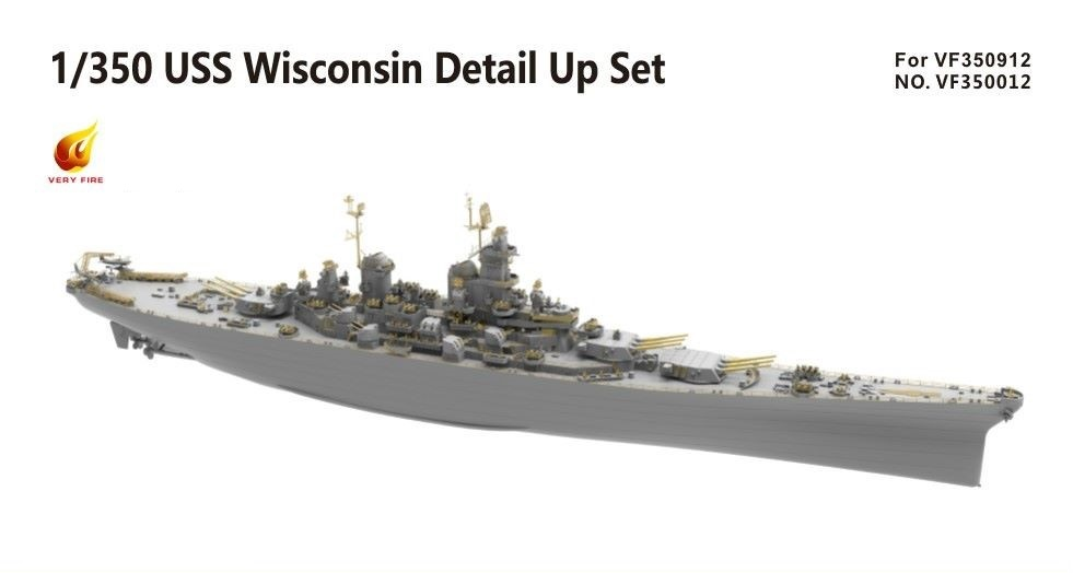 Very Fire 1/350 USS Wisconsin Detail Up Set (For Very Fire)