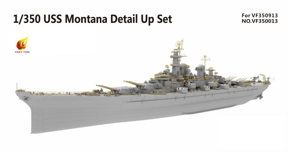 Very Fire 1/350 USS Montana Detail Up Set (For Very Fire)