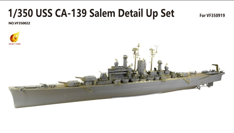 Very Fire 1/350 USS CA-139 Salem Detail Up Set (For Very Fire)
