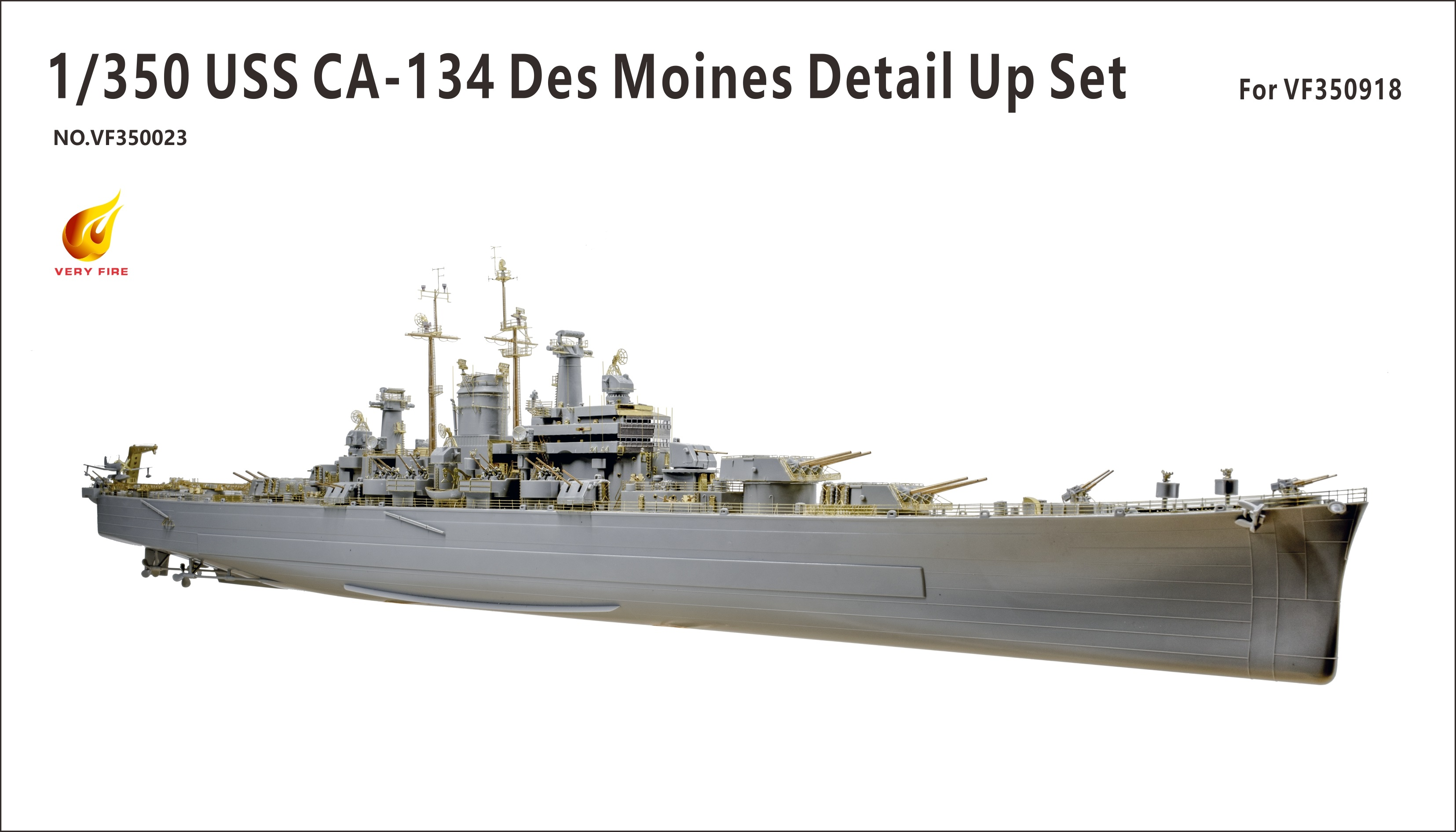 Very Fire 1/350 USS CA-134 Des Moines Detail Up Set (For Very Fire)