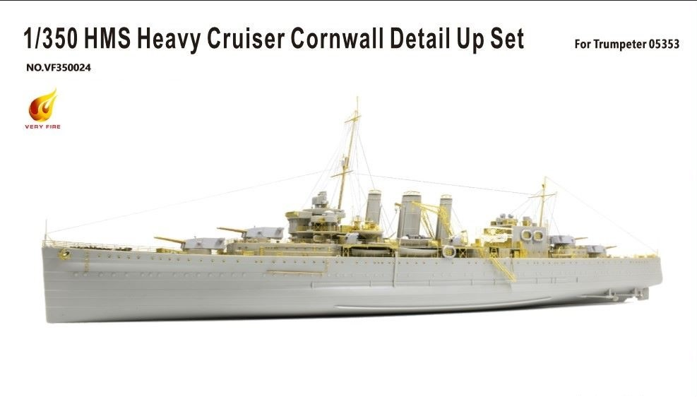 Very Fire 1/350 HMS Heavy Cruiser Cornwall Detail Up Set (For Trumpeter 05353)