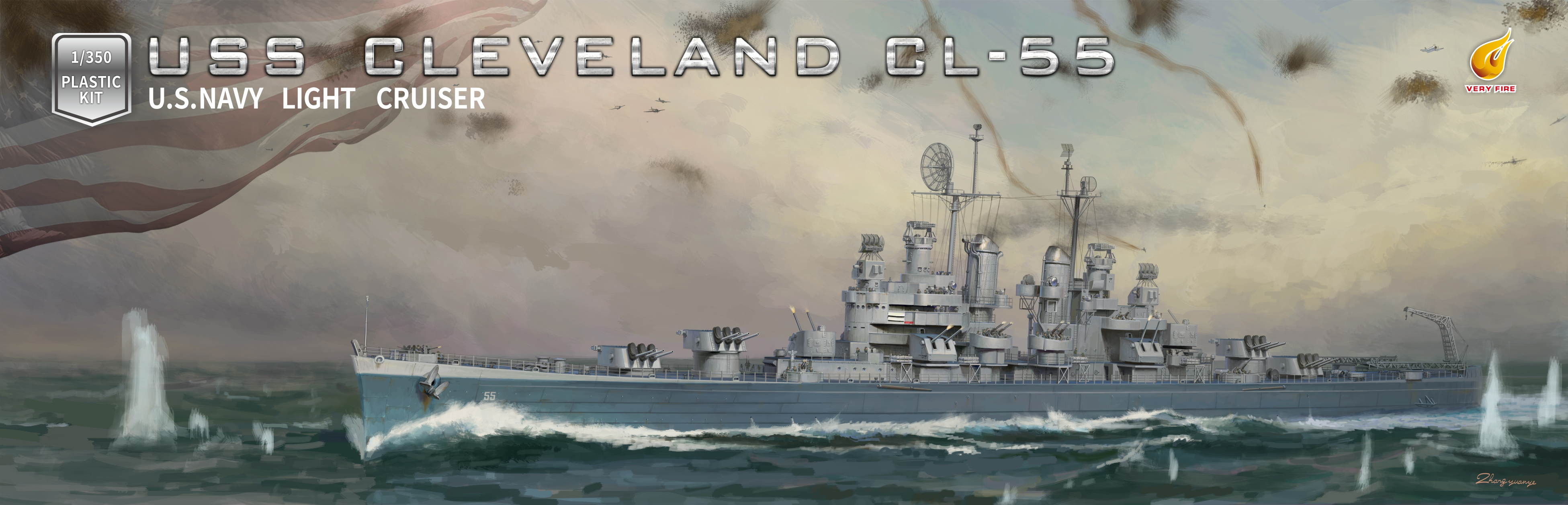 Very Fire 1/350 USS Cleveland CL-55