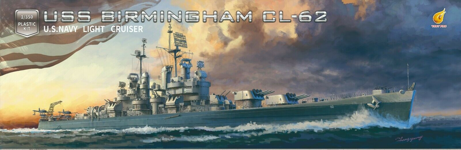 Very Fire 1/350 USS Birmingham CL-62