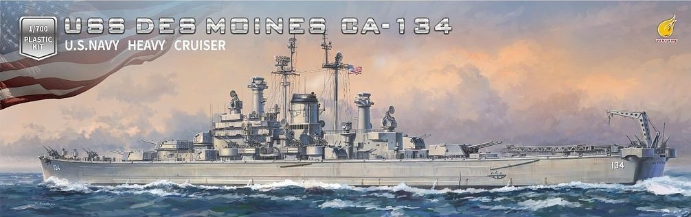 Very Fire 1/700 USS Des Moines CA-134 DX version