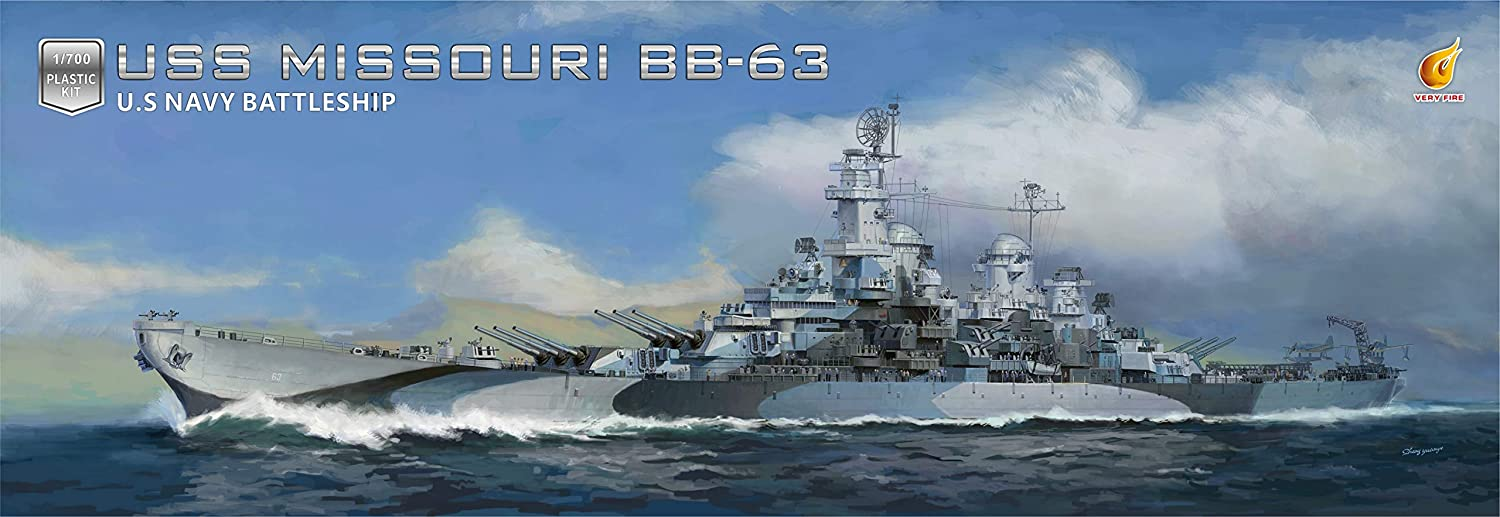 Very Fire 1/700 USS Missouri BB-63 DX version