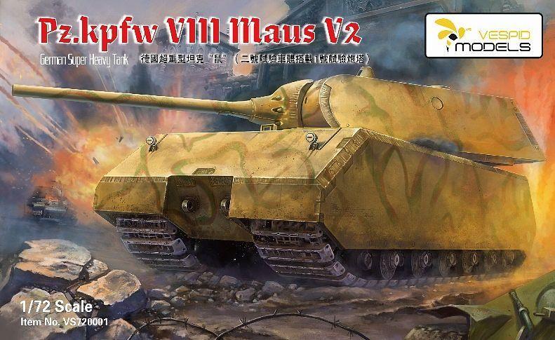 Vespid Models 1/72 German Sd.Kfz VIII MAUS V2 Heavy Tank