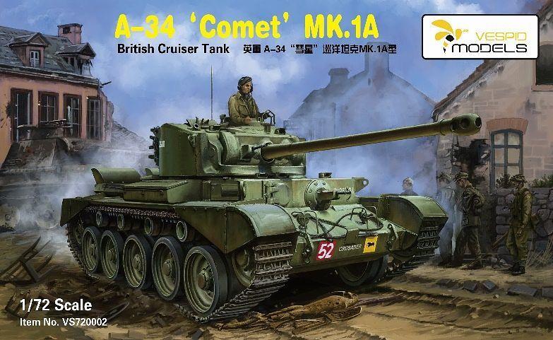"""Vespid Models 1/72 British Cruiser Tank A34 """"Comet"""" Mk.IA"""