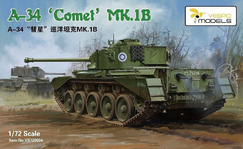"""Vespid Models 1/72 Cruiser Tank A34 """"Comet"""" Mk.IB"""