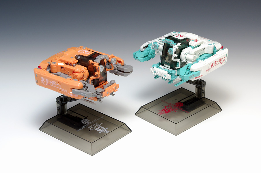 Wave Space Pod Crab-03 Orange/White (3.07 Inch Tall approx) Construction Equipment