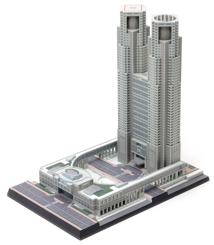 Wave 1/2000 Tokyo Metropolitan Government Office Model Kit