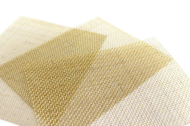 Wave C MESH #120 - Fine Brass Mesh for Exhaust Intakes or Port Covers and Engine Grill (Brass thickness 0.09mm, Mesh Gap 0.12mm)