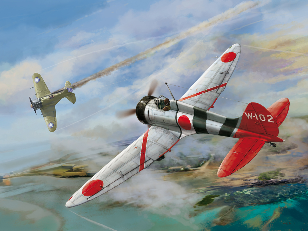 "Wingsy 1/48 IJN Type 96 carrier-based fighter II A5M4 ""Claude"""