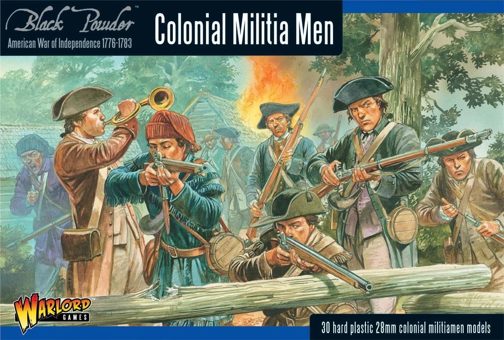 Black Powder Colonial Militia Men