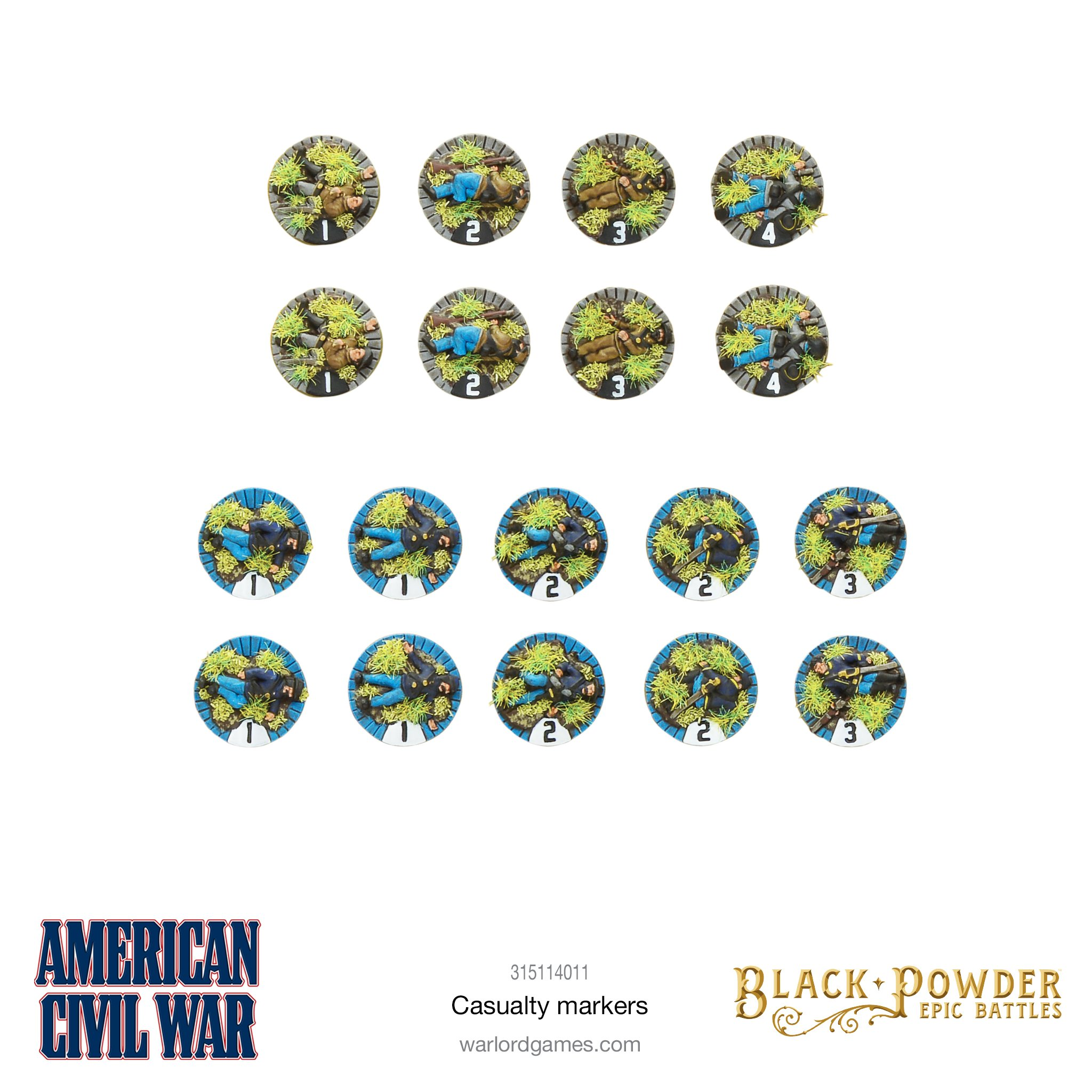 Black Powder Epic Battles : ACW Casualty Markers