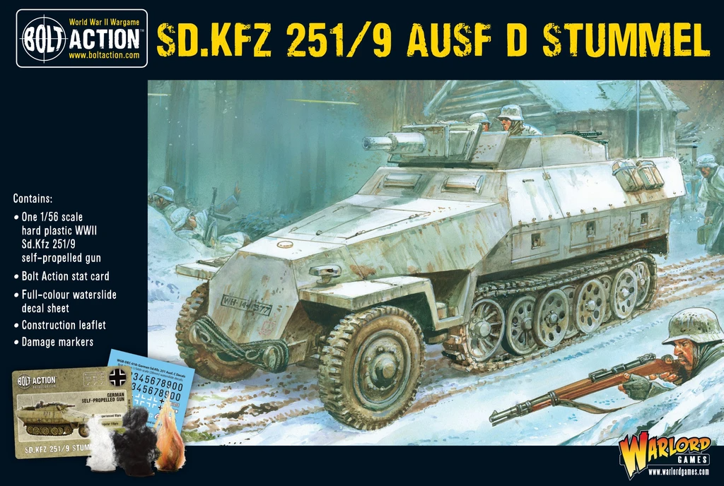 Bolt Action Sd.Kfz 251/9 Ausf D (Stummel) half-track