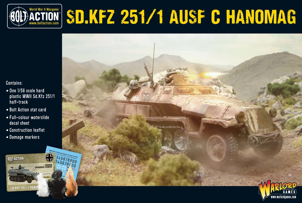 Bolt Action Sd.Kfz 251/1 Ausf C Hanomag